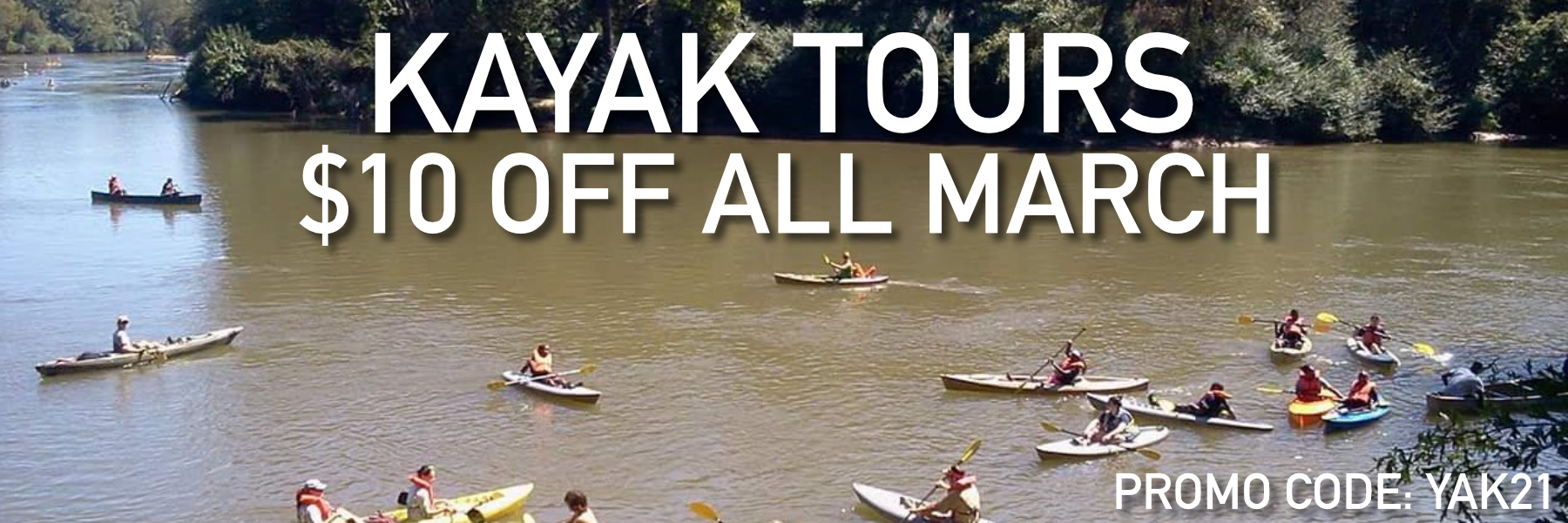$10 Off Kayaking March