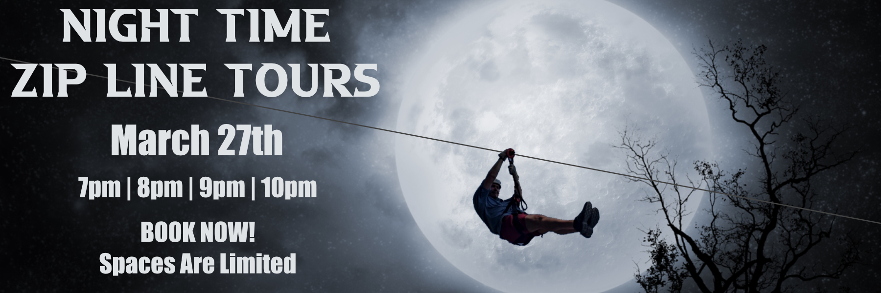 March Night Zip Line Tours